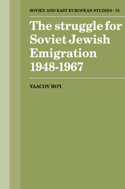 The Struggle for Soviet Jewish Emigration, 1948–1967