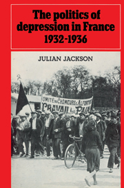 The Politics of Depression in France 1932–1936