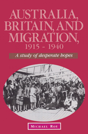 Australia, Britain and Migration, 1915–1940
