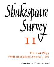 Shakespeare Survey With Index 1-10