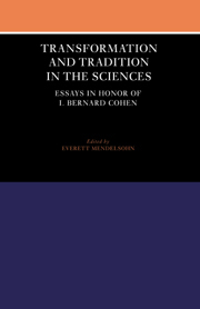 Transformation and Tradition in the Sciences