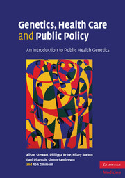 Genetics, Health Care and Public Policy