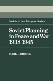 Soviet Planning in Peace and War, 1938–1945