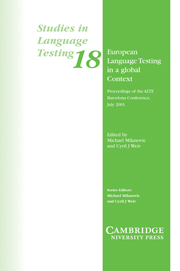 European Language Testing in a Global Context