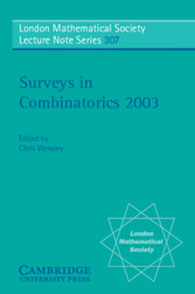 Surveys in Combinatorics 2003