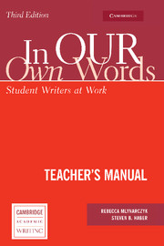 In our own Words Teacher's Manual
