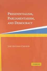 Presidentialism, Parliamentarism, and Democracy