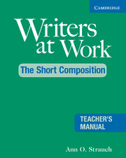 Writers at Work: The Short Composition