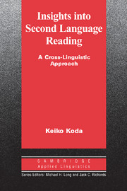Insights into Second Language Reading