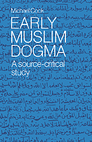 Early Muslim Dogma