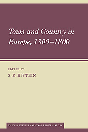 Town and Country in Europe, 1300–1800