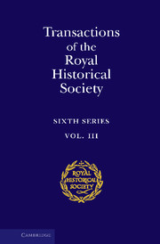 Transactions of the Royal Historical Society