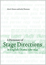 A Dictionary of Stage Directions in English Drama 1580–1642