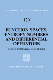 Function Spaces, Entropy Numbers, Differential Operators
