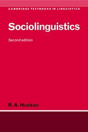 Sociolinguistics 2nd Edition Sociolinguistics Cambridge University Press