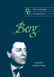 The Cambridge Companion to Berg
