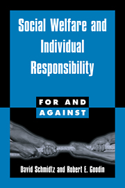 Social Welfare and Individual Responsibility