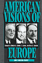 American Visions of Europe
