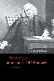 The Making of Johnson's Dictionary 1746–1773