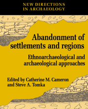 The Abandonment of Settlements and Regions