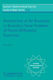 Perturbation of the Boundary in Boundary-Value Problems of Partial Differential Equations
