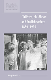 Children, Childhood and English Society, 1880–1990