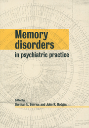 Memory Disorders in Psychiatric Practice