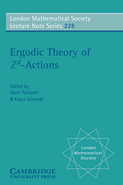 Ergodic Theory and Zd Actions