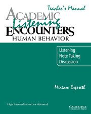 Academic Listening Encounters: Human Behavior