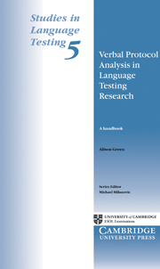 Verbal Protocol Analysis in Language Testing Research