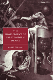 The Homoerotics of Early Modern Drama