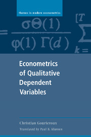 Econometrics of Qualitative Dependent Variables