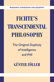Fichte's Transcendental Philosophy