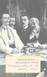 Aristocrats in Bourgeois Italy