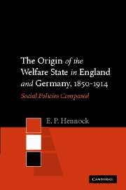 The Origin of the Welfare State in England and Germany, 1850–1914