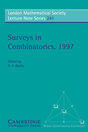 Surveys in Combinatorics, 1997