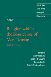 Kant: <I>Religion within the Boundaries of Mere Reason</I>