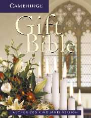 KJV Gift Bible, Ruby Text Edition, White, KJ221:T