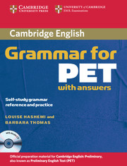 Cambridge Grammar for PET Book with Answers and Audio CD