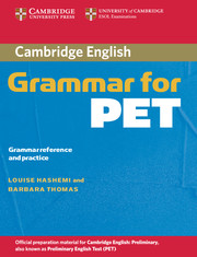 Cambridge Grammar for PET