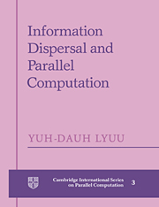 Information Dispersal and Parallel Computation