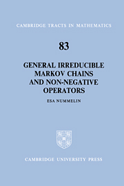 General Irreducible Markov Chains and Non-Negative Operators
