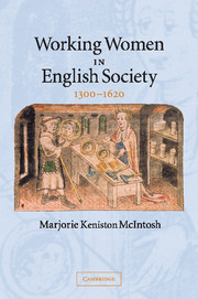 Working Women in English Society, 1300–1620