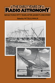 The Early Years of Radio Astronomy