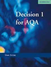 Decision 1 for AQA