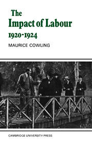 The Impact of Labour 1920–1924