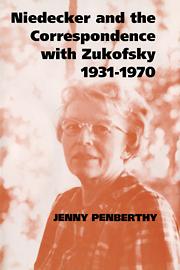 Niedecker and the Correspondence with Zukofsky 1931–1970