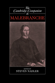The Cambridge Companion to Malebranche