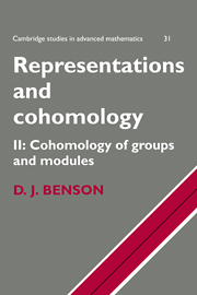 Representations and Cohomology