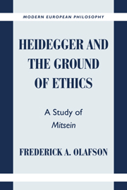 Heidegger and the Ground of Ethics